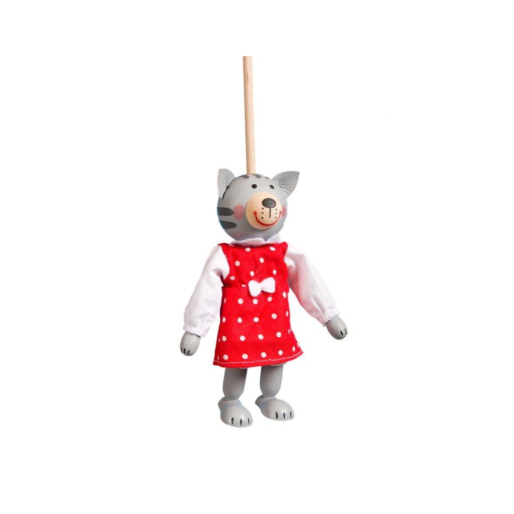 Loutka na tyčce Kočička