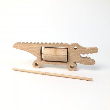 Hudební krokodýl s válcem