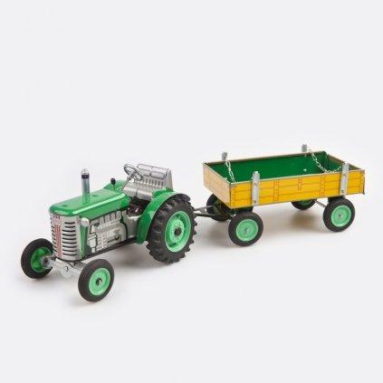 Traktor Zetor s valníkem zelený
