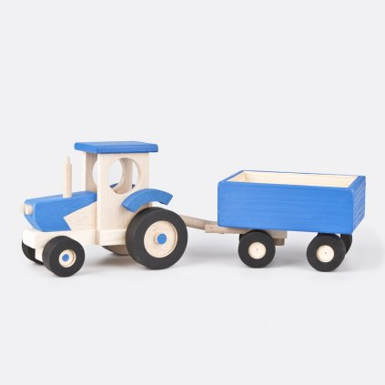 Dřevěný traktor s valníkem