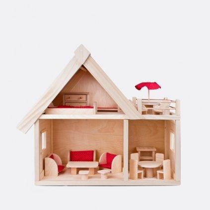 Dřevěný dům pro panenky
