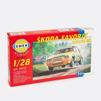 Stavebnice modelu Škoda Favorit Rallye 96