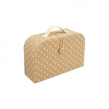 Puntíkatý kufr s knoflíkem malý