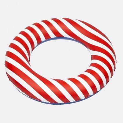 Nafukovací kruh červené pruhy