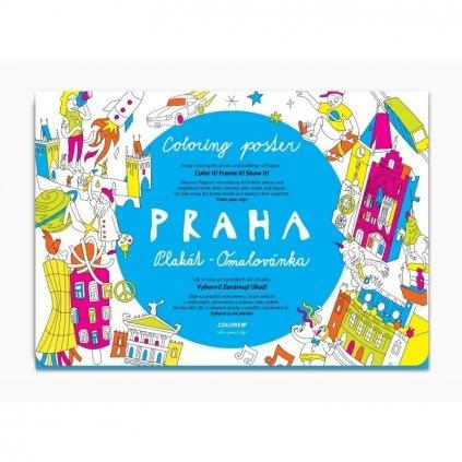 Praha plakát - omalovánka
