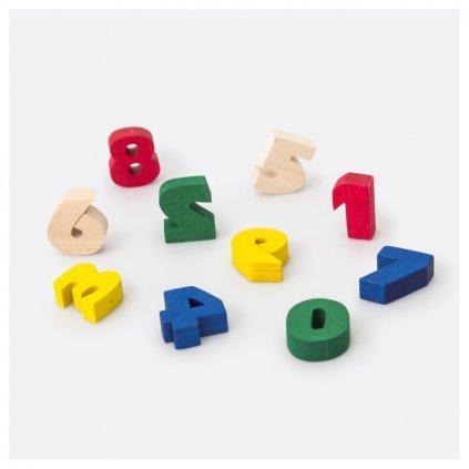 Číslice dřevěné