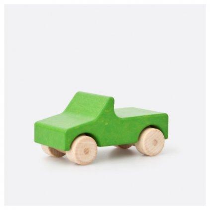 Zelený dřevěný kabriolet