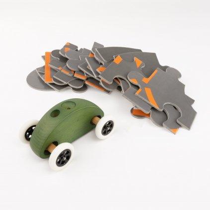 03 Fingercar Gruen Puzzleteile