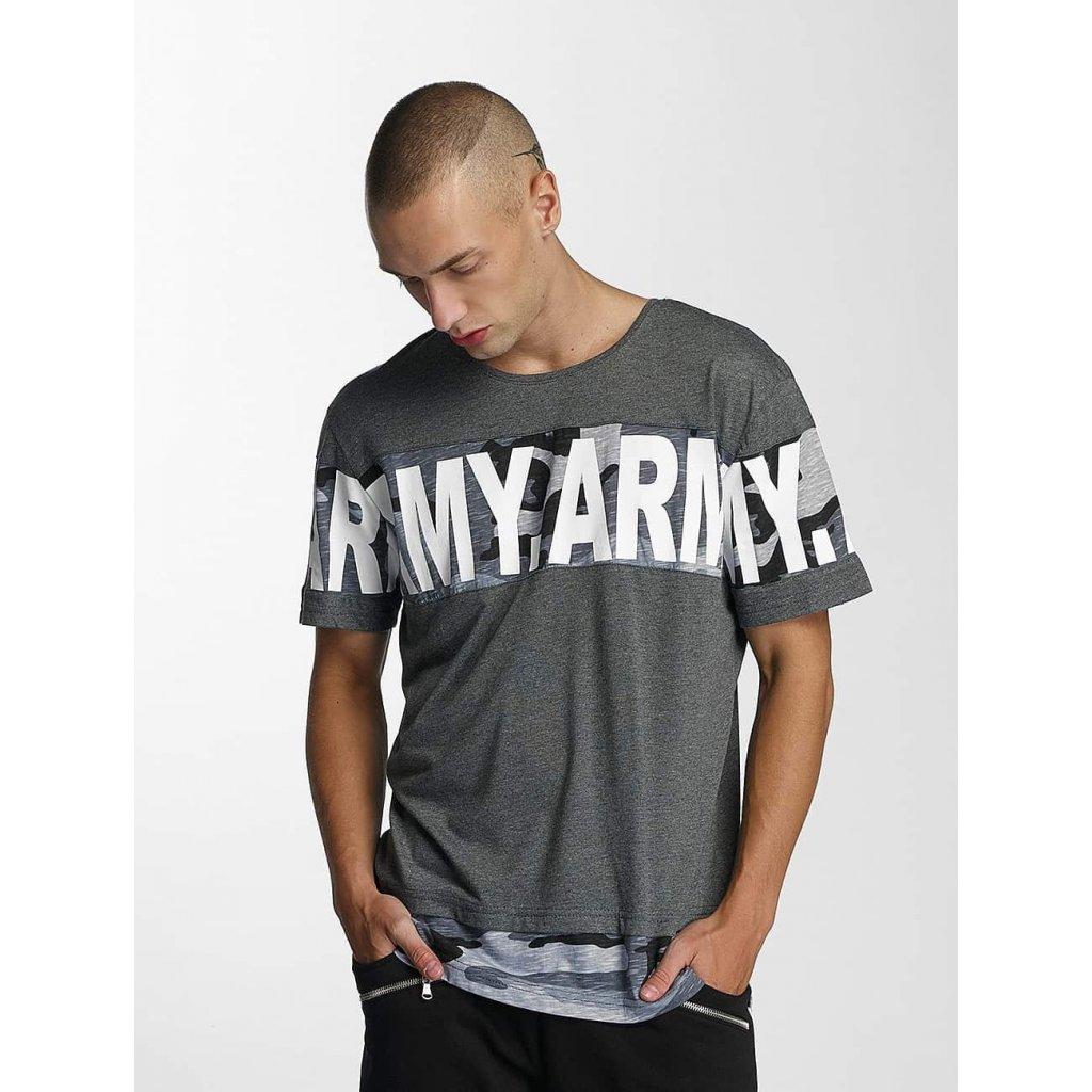 Tričko  Bangastic / T-Shirt Army in grey