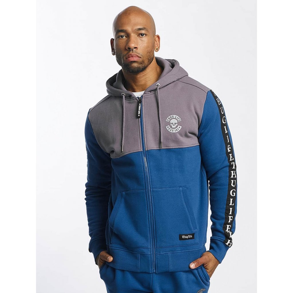 Thug Life / Zip Hoodie Wired in blue