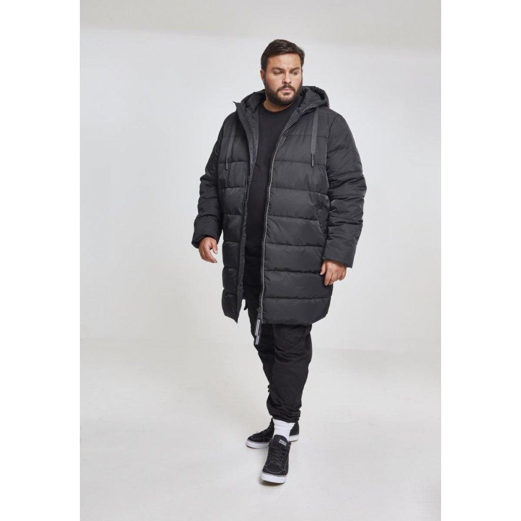 Hooded Puffer Coat black