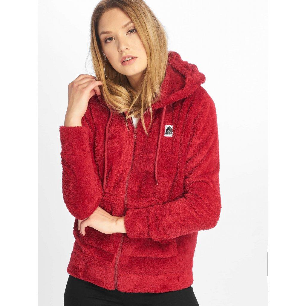 Dámska mikina  Just Rhyse / Zip Hoodie Arequipa in red