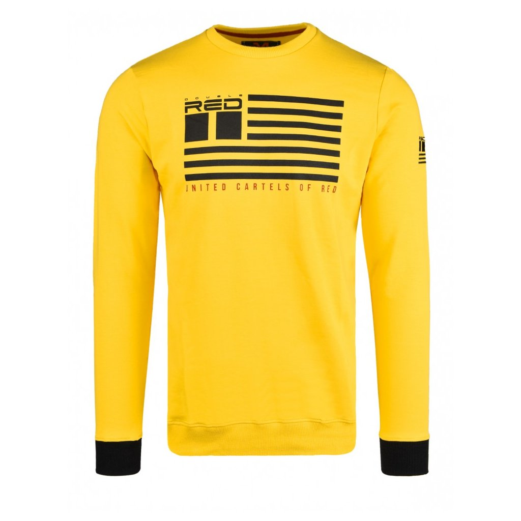 Mikina  DOUBLE RED  United Cartels Of Red UCR Yellow Sweatshirt