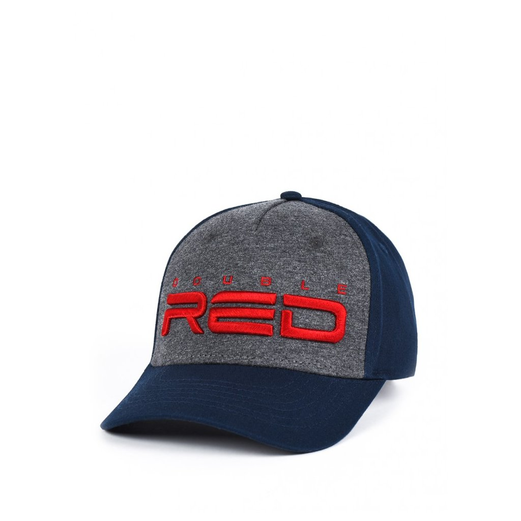 Šiltovka  JERSEY DOUBLE RED 3D Embroidery Cap Grey/Blue