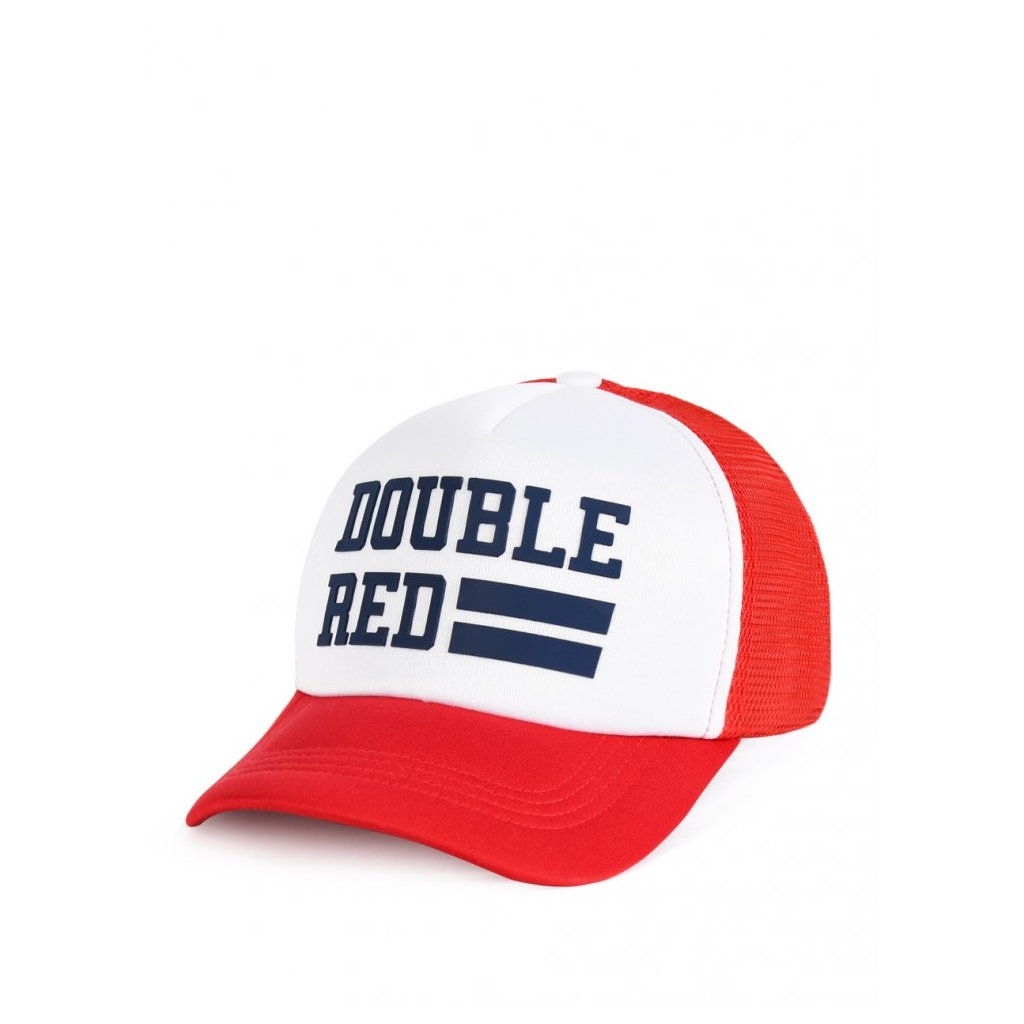 Šiltovka  DOUBLE RED  Trucker Cap UNIVERSITY OF RED Red/White
