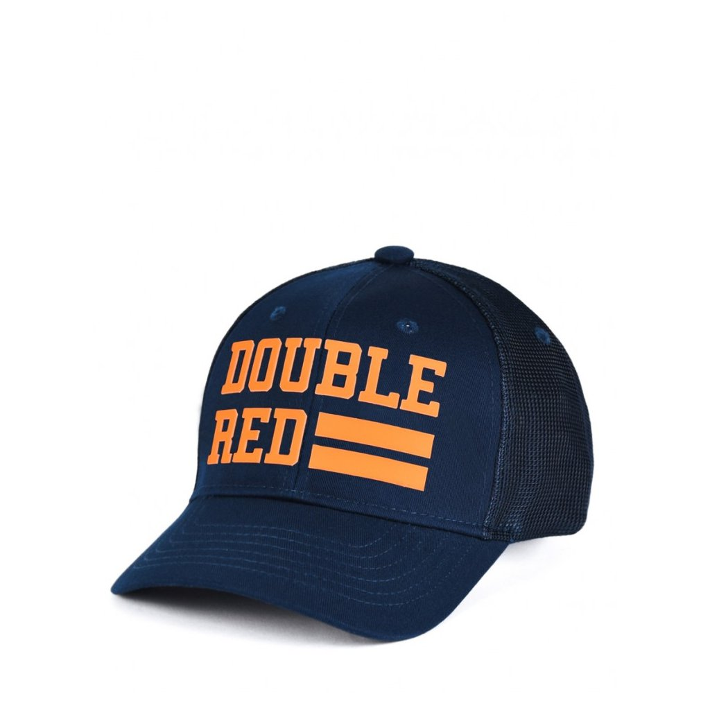 Šiltovka  DOUBLE RED  Trucker Cap UNIVERSITY OF RED Dark Blue/Orange