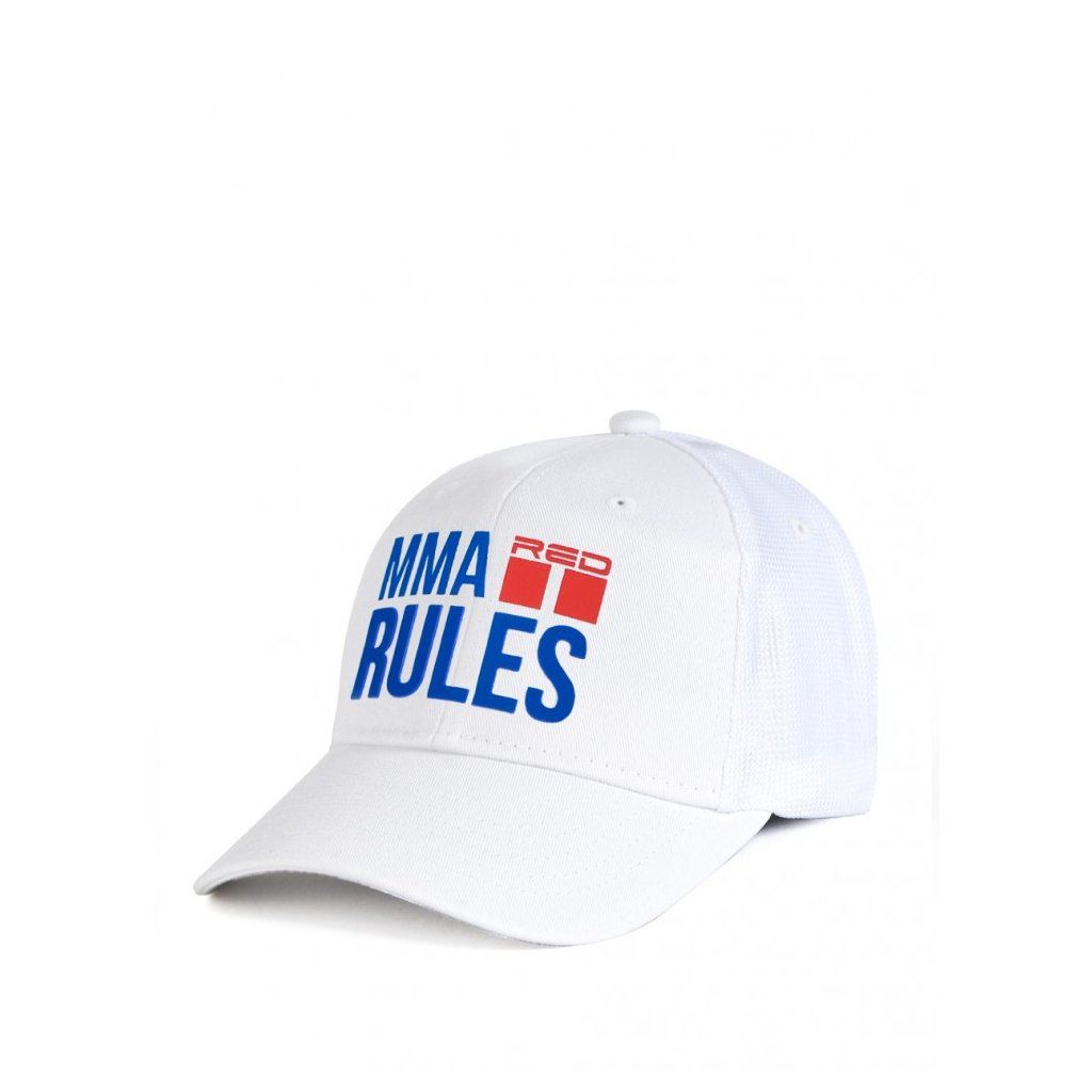 Šiltovka  DOUBLE RED  MMA RULES White Cap