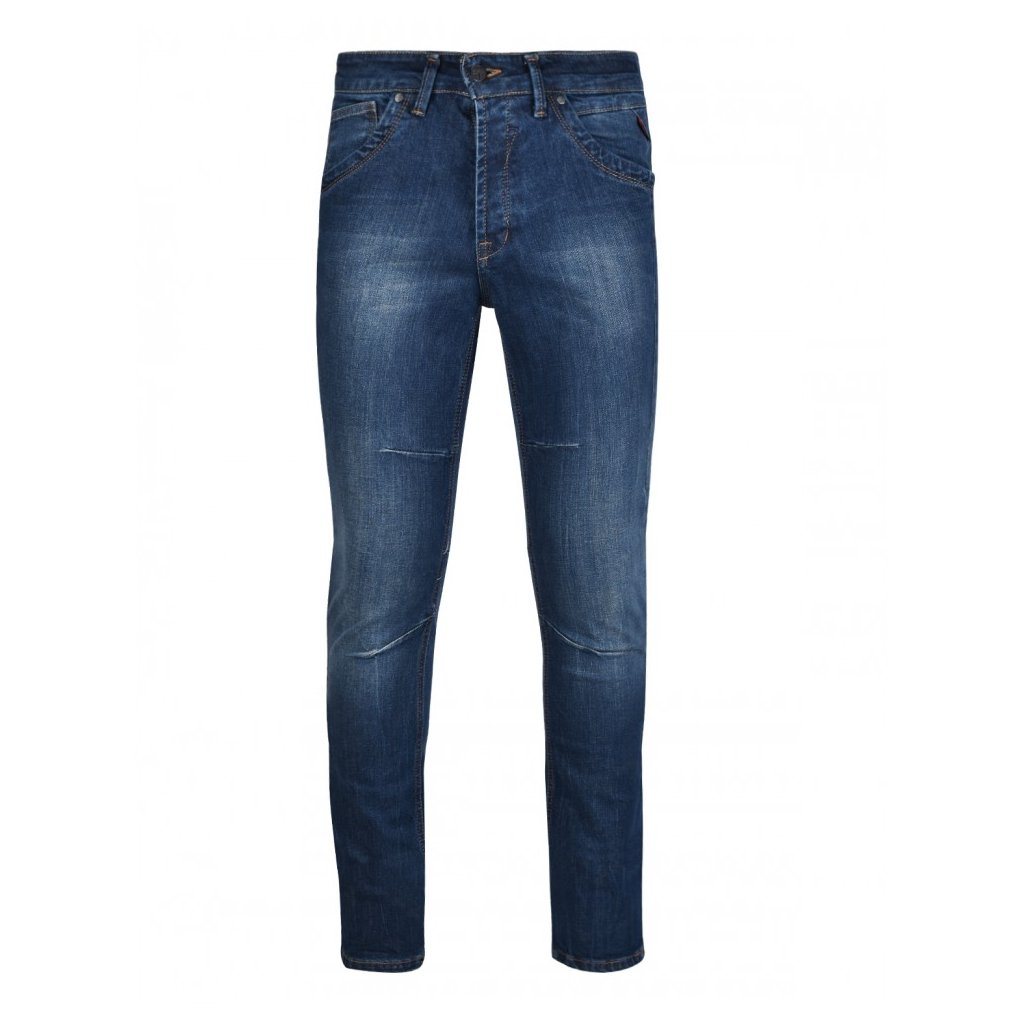 DOUBLE RED  RED JEANS Scar Blue Skinny Fit