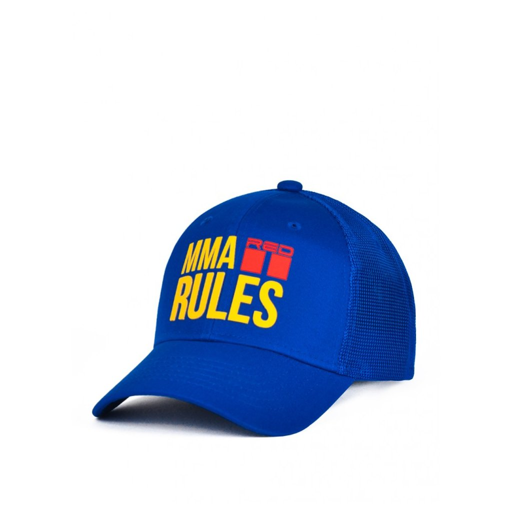 Šiltovka  DOUBLE RED  MMA RULES Blue Cap