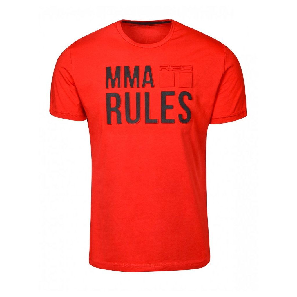 Tričko  DOUBLE RED  T-Shirt MMA RULES Red