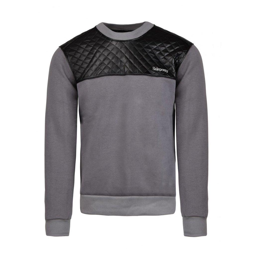Mikina  DOUBLE RED  SELEPCENY Cotton Sweatshirt Grey
