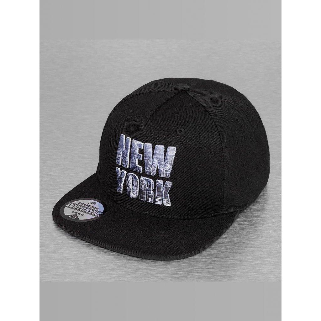 Pánska šiltovka Just Rhyse / Snapback Cap New York Style in black