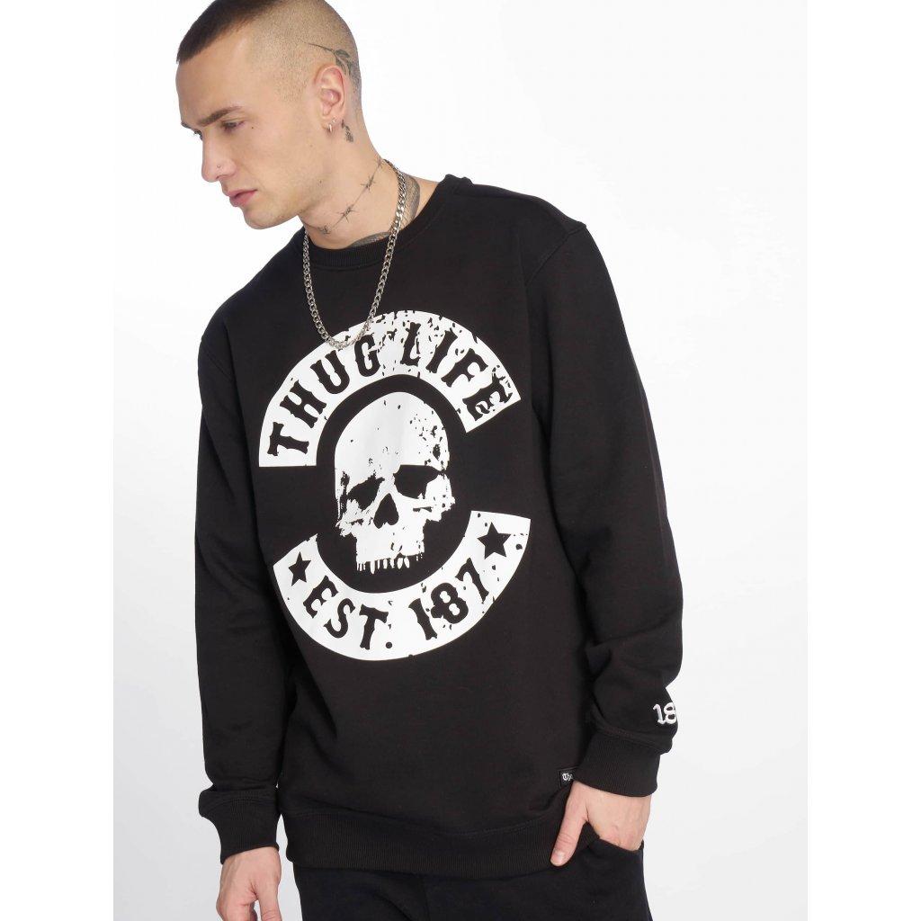 Pánska mikina Crewneck  Thug Life / Jumper Kuza in black