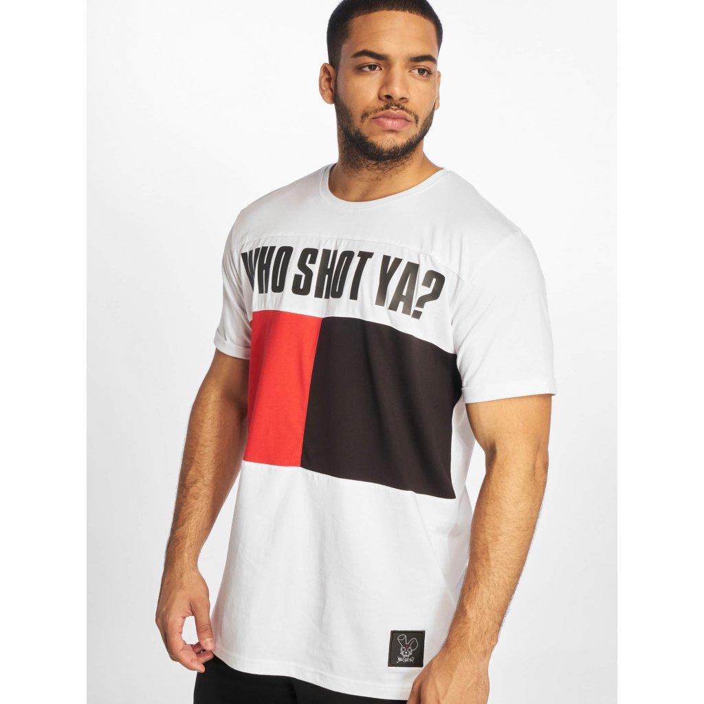 Pánske tričko Who Shot Ya? / T-Shirt Block in white