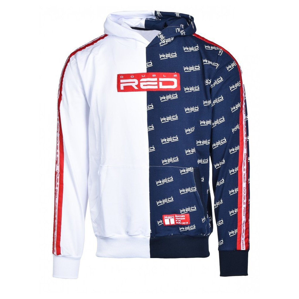 Mikina  DOUBLE RED  Hoodie DOUBLE FACE White/Blue