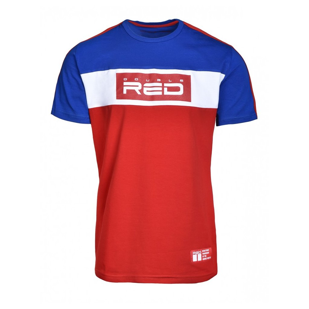 Tričko  DOUBLE RED  T-Shirt OUTSTANDING Blue/Red