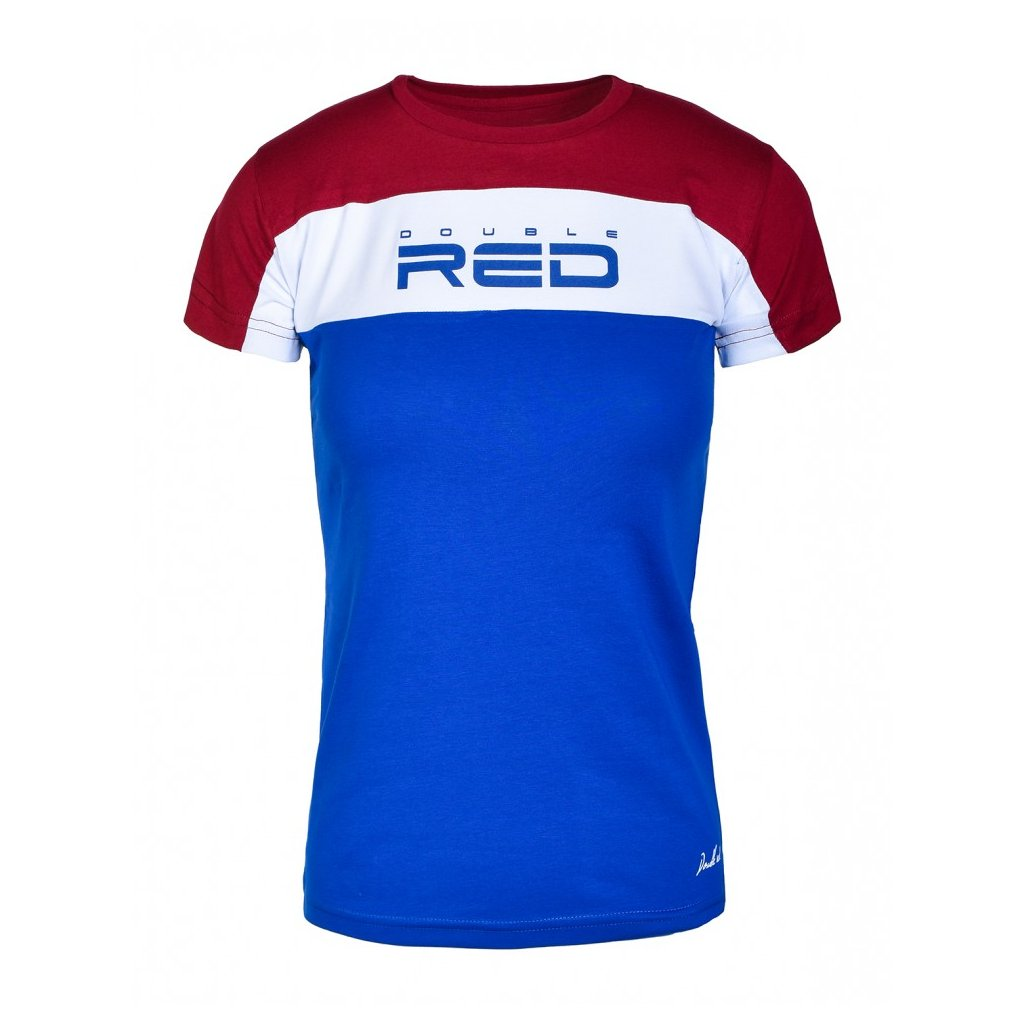 Tričko  DOUBLE RED  T-Shirt OUTSTANDING Red/Blue