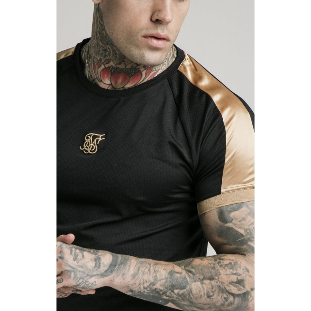 Pánske tričko SIKSILK S/S INSET CUF TECH TEE