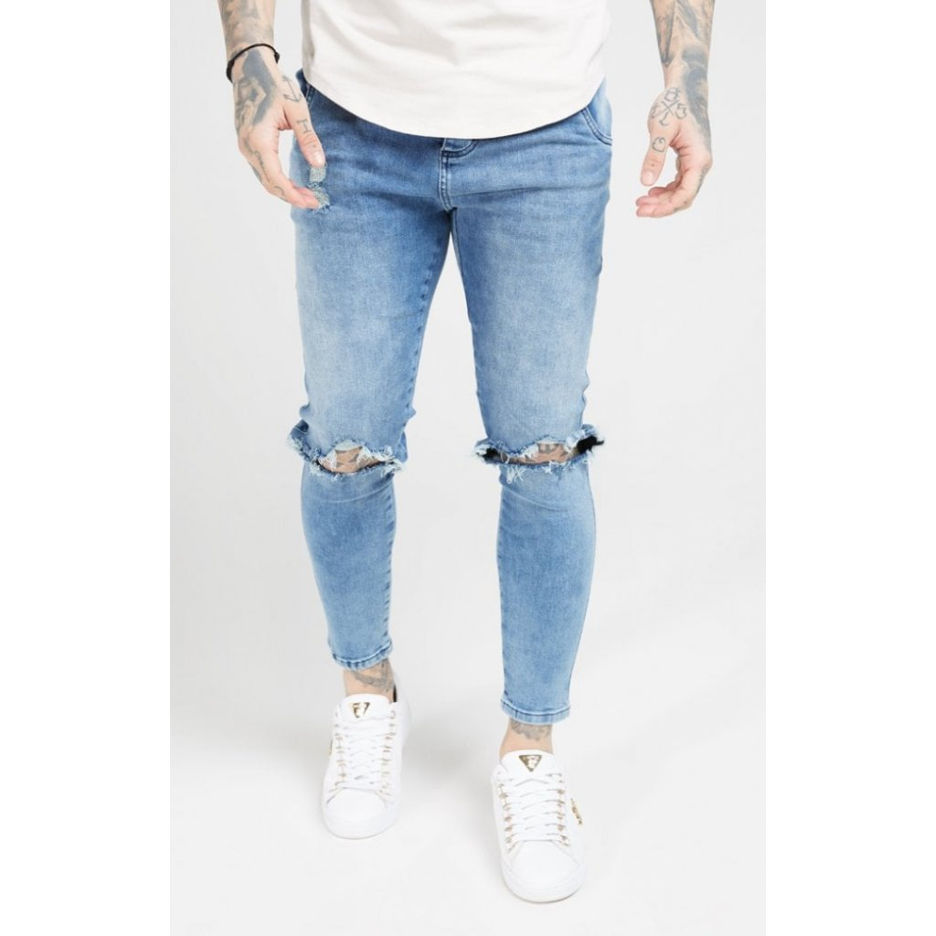 Pánske rifle SIKSILK DISTRESSED SLICE