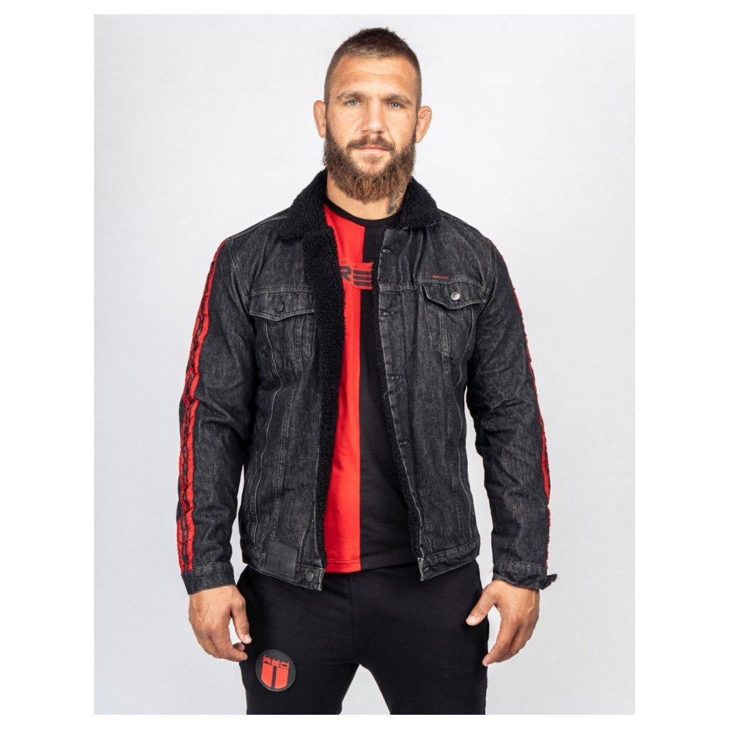 Bunda  DOUBLE RED  RED JEANS Fly Jacket Black