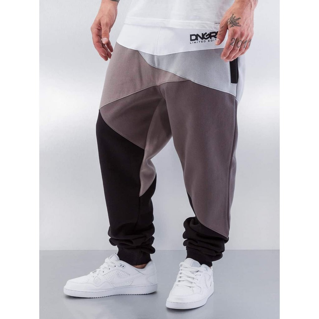 Pánske tepláky Dangerous DNGRS / Sweat Pant Locotay Race City in grey