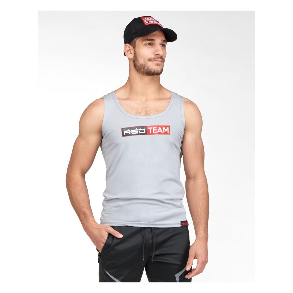 DOUBLE RED  RED TEAM Tank Top Grey
