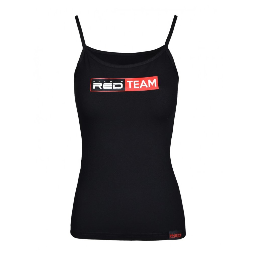 DOUBLE RED  RED TEAM Tank Top Black
