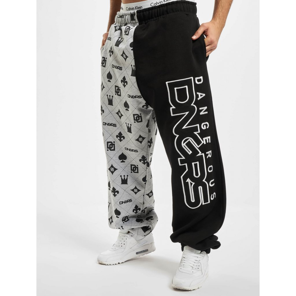 Pánske tepláky  Dangerous DNGRS / Sweat Pant Half Crown & King in grey