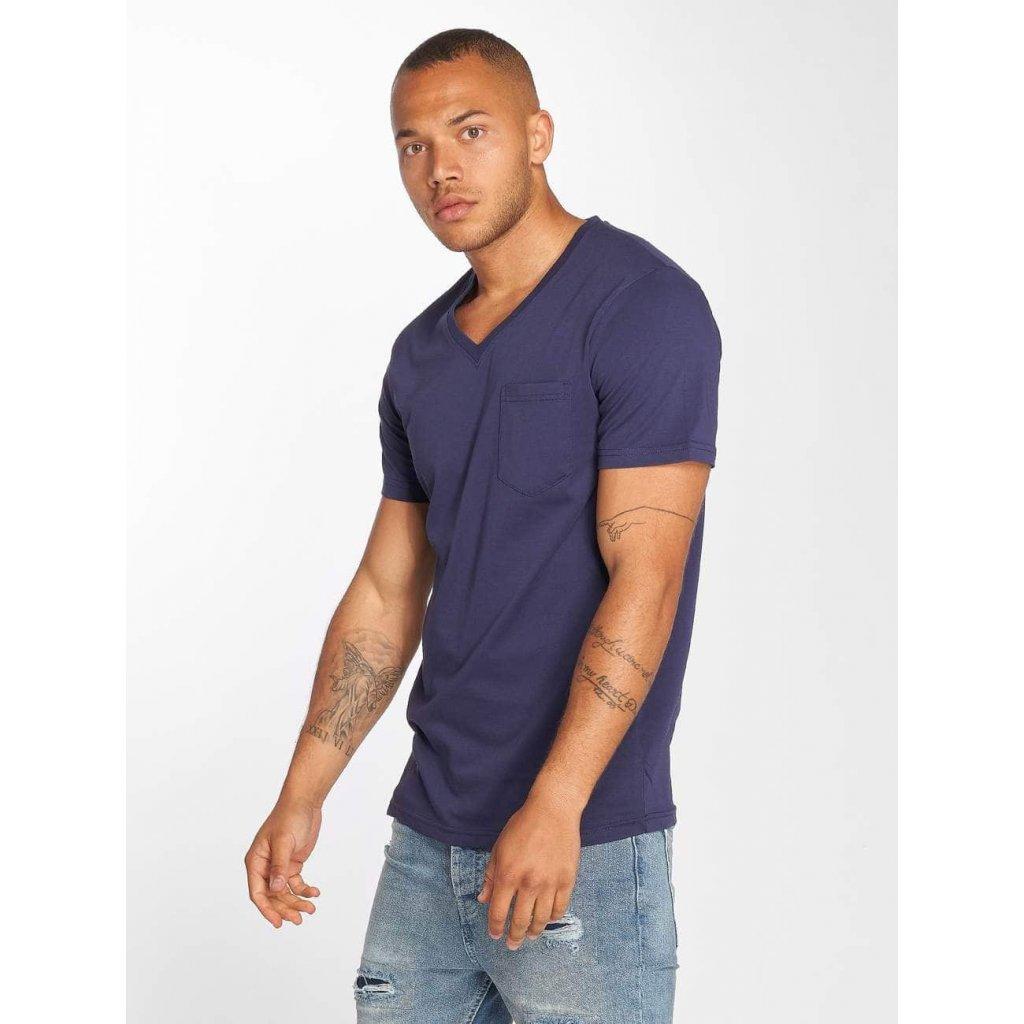 DEF / T-Shirt V-Neck in blue