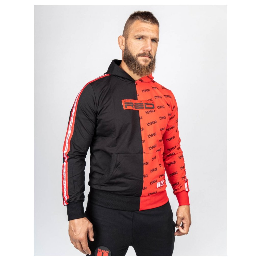 Mikina  DOUBLE RED  Hoodie DOUBLE FACE Black/Red