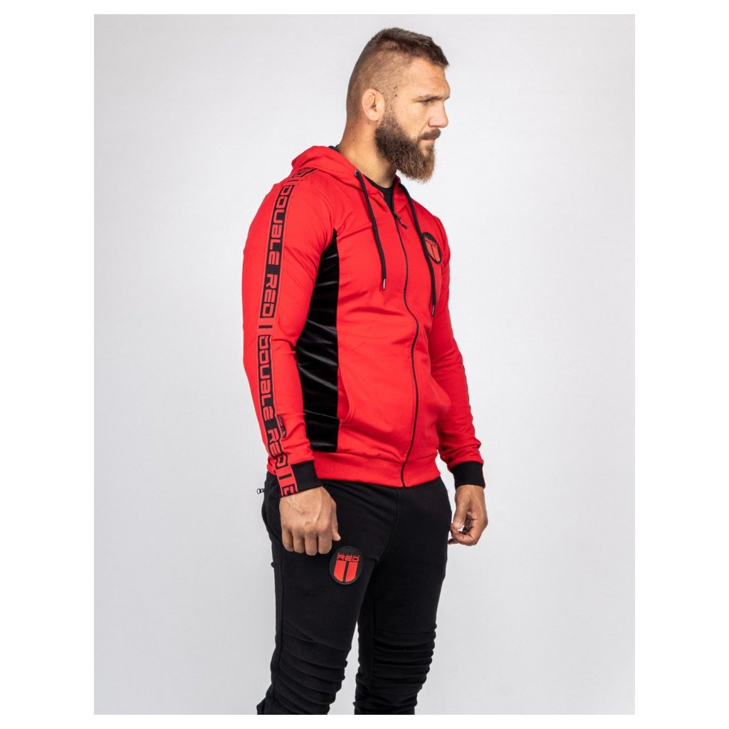 Mikina  DOUBLE RED  RED VELVET Hoodie Red