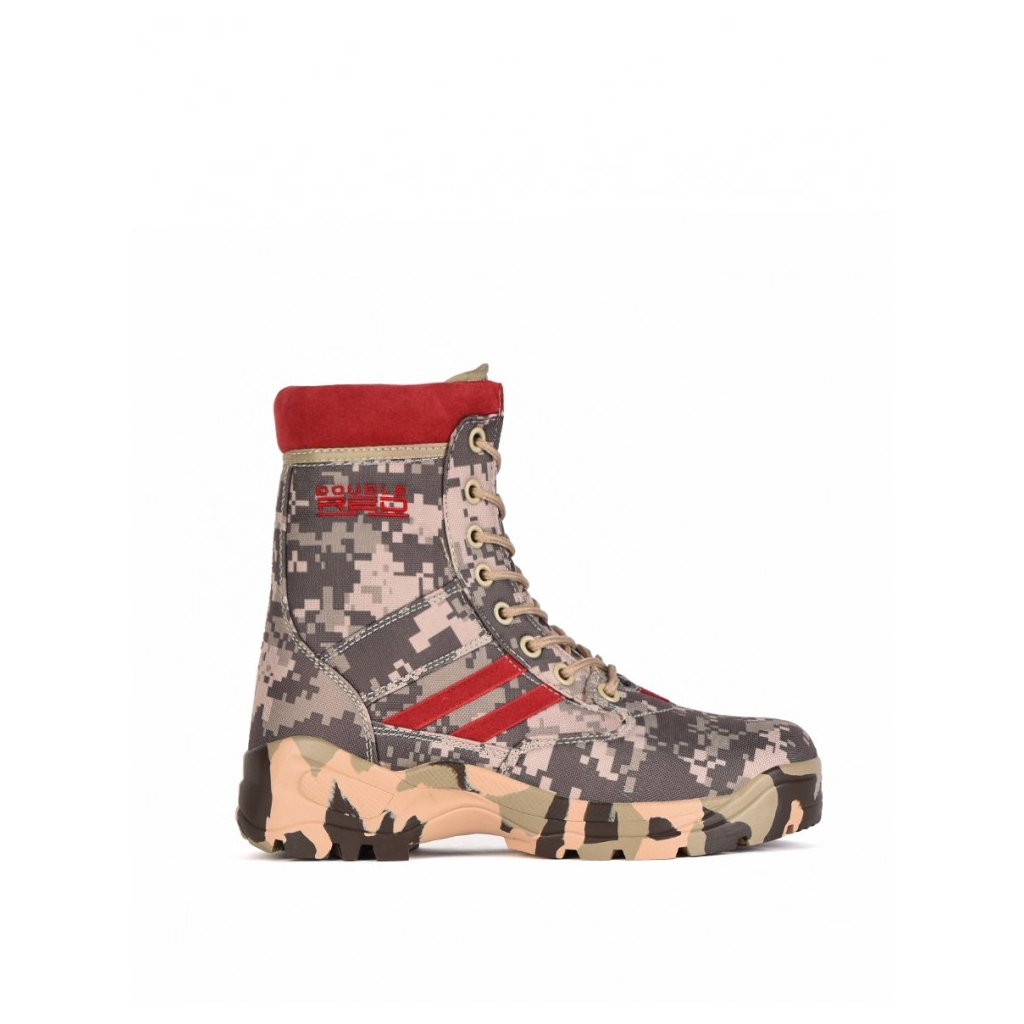 DOUBLE RED  Boots Red Jungle Digi Grey