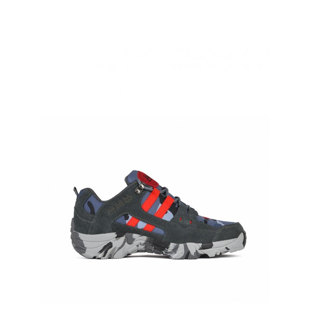 DOUBLE RED  Boots Red Hero Soldier Edition Blue/Grey