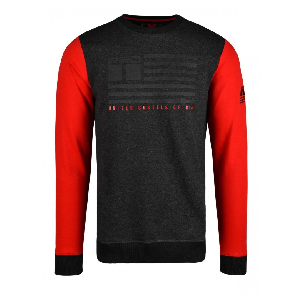 Mikina  DOUBLE RED  United Cartels Of Red UCR Grey/Red Sweatshirt