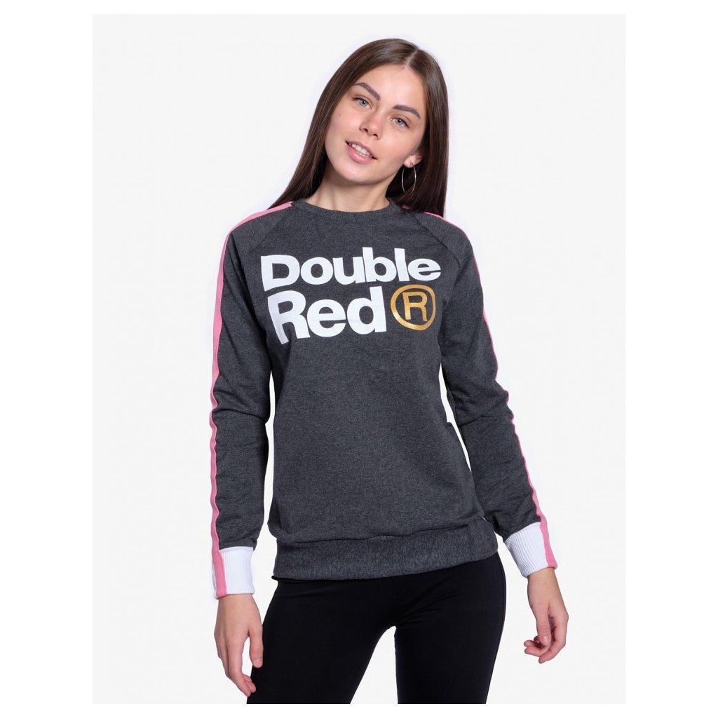 Mikina  DOUBLE RED  Sweatshirt FABULOUS Dark Grey