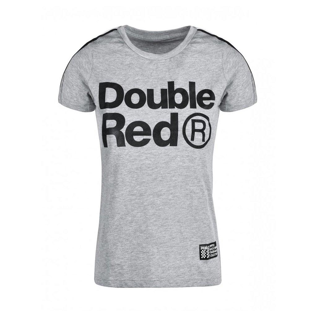 Tričko  DOUBLE RED  T-Shirt TRADEMARK B&W™ Edition Light Grey
