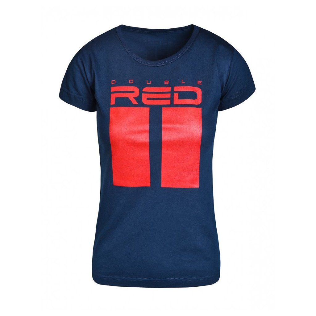 Tričko  DOUBLE RED  T-shirt ALL LOGO Dark Blue