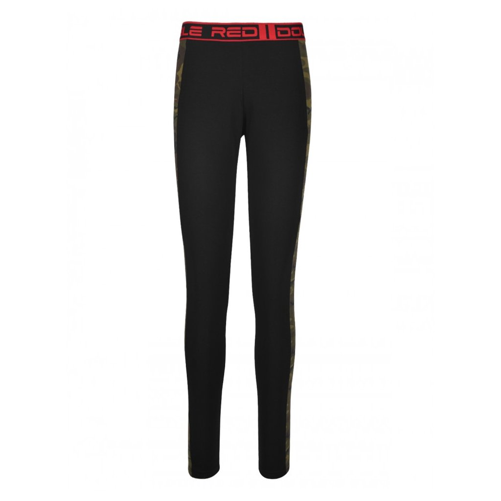 Legíny  DOUBLE RED  RED LEGGINS Grey/Green Camo