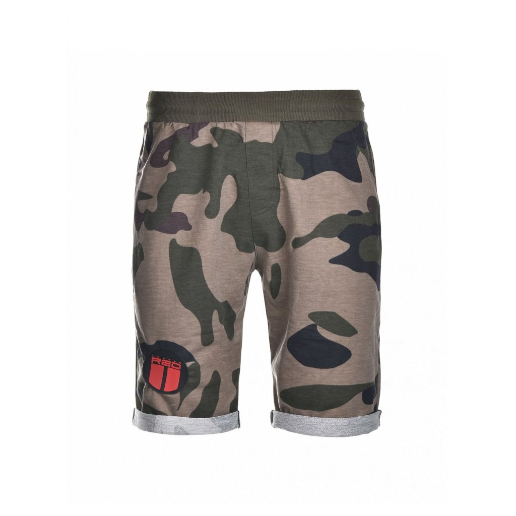 DOUBLE RED  SOLDIER Shorts Green Camo