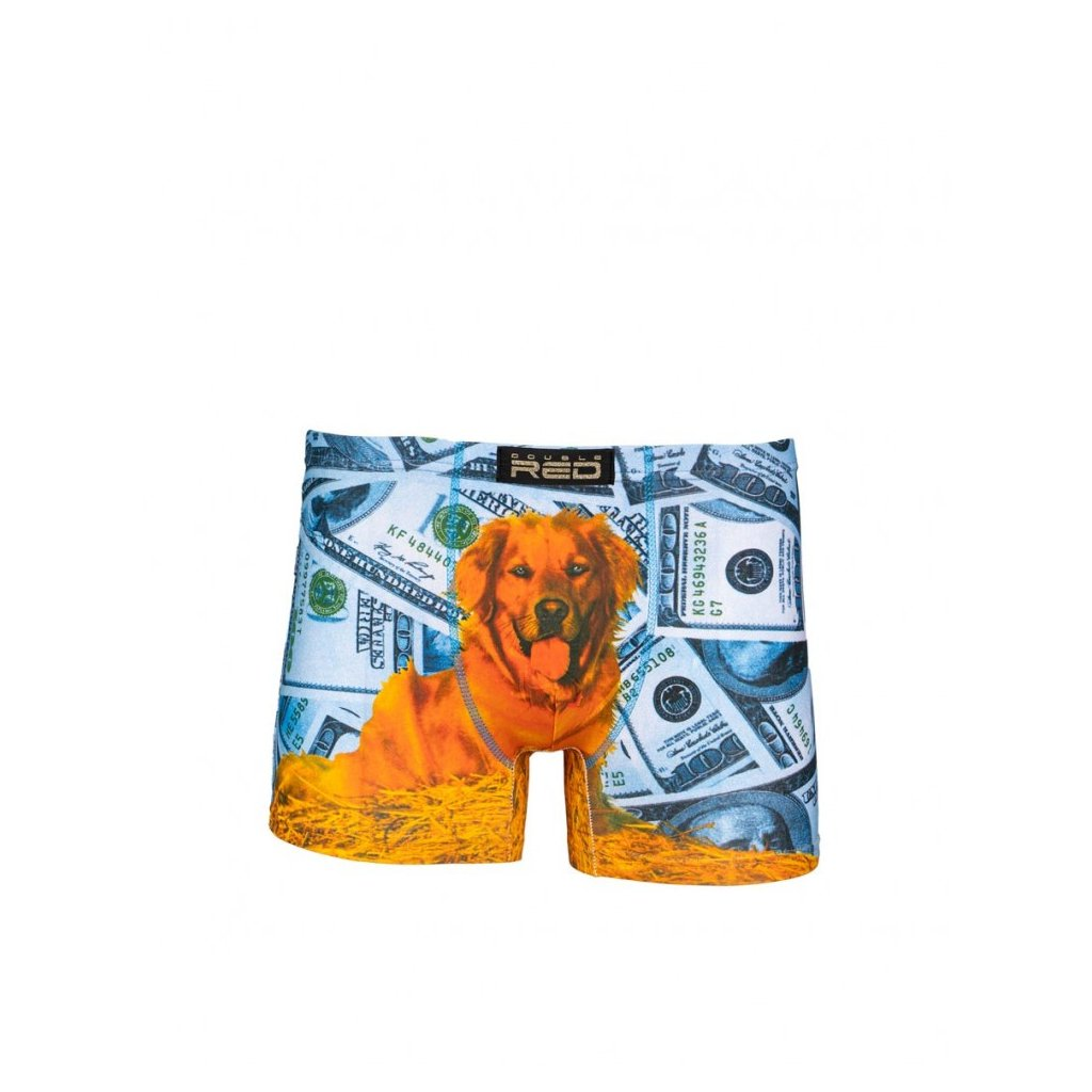 DOUBLE RED  2FUN Boxers Dolar Dog Blue